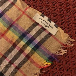 Burberry rainbow scarf -220cm by 70cm-NOT CASHMERE